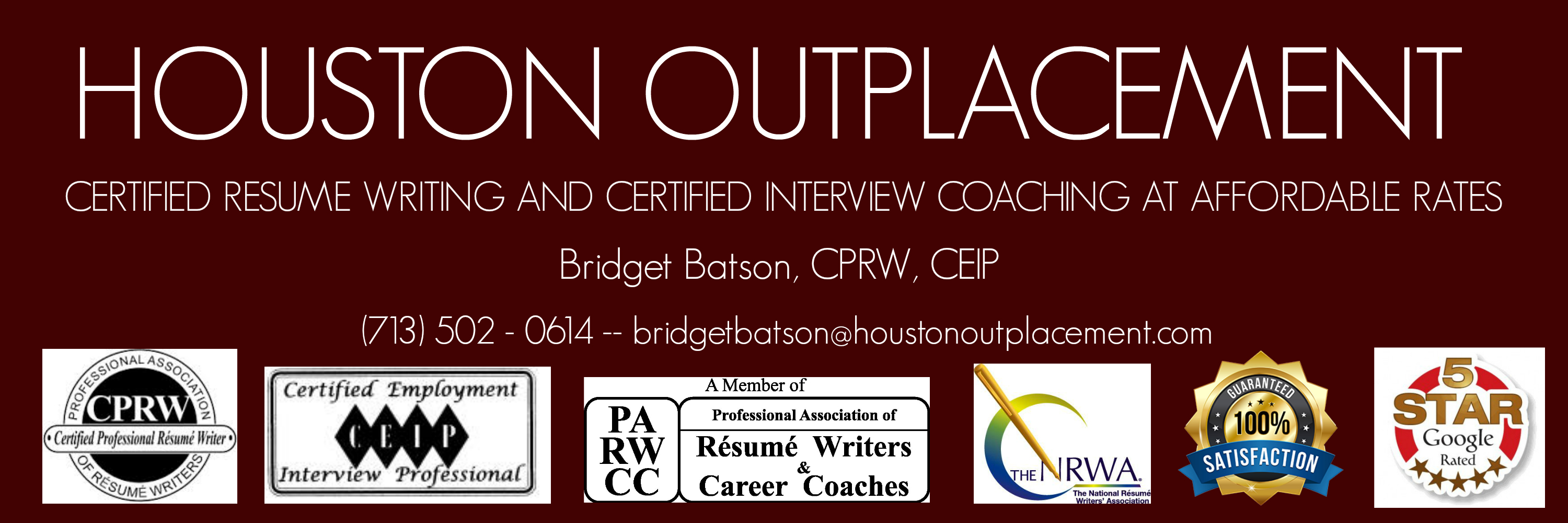 houston outplacement certified resume writing and interview