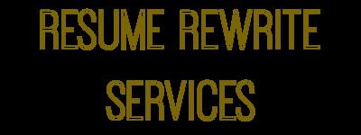 resume rewrite service